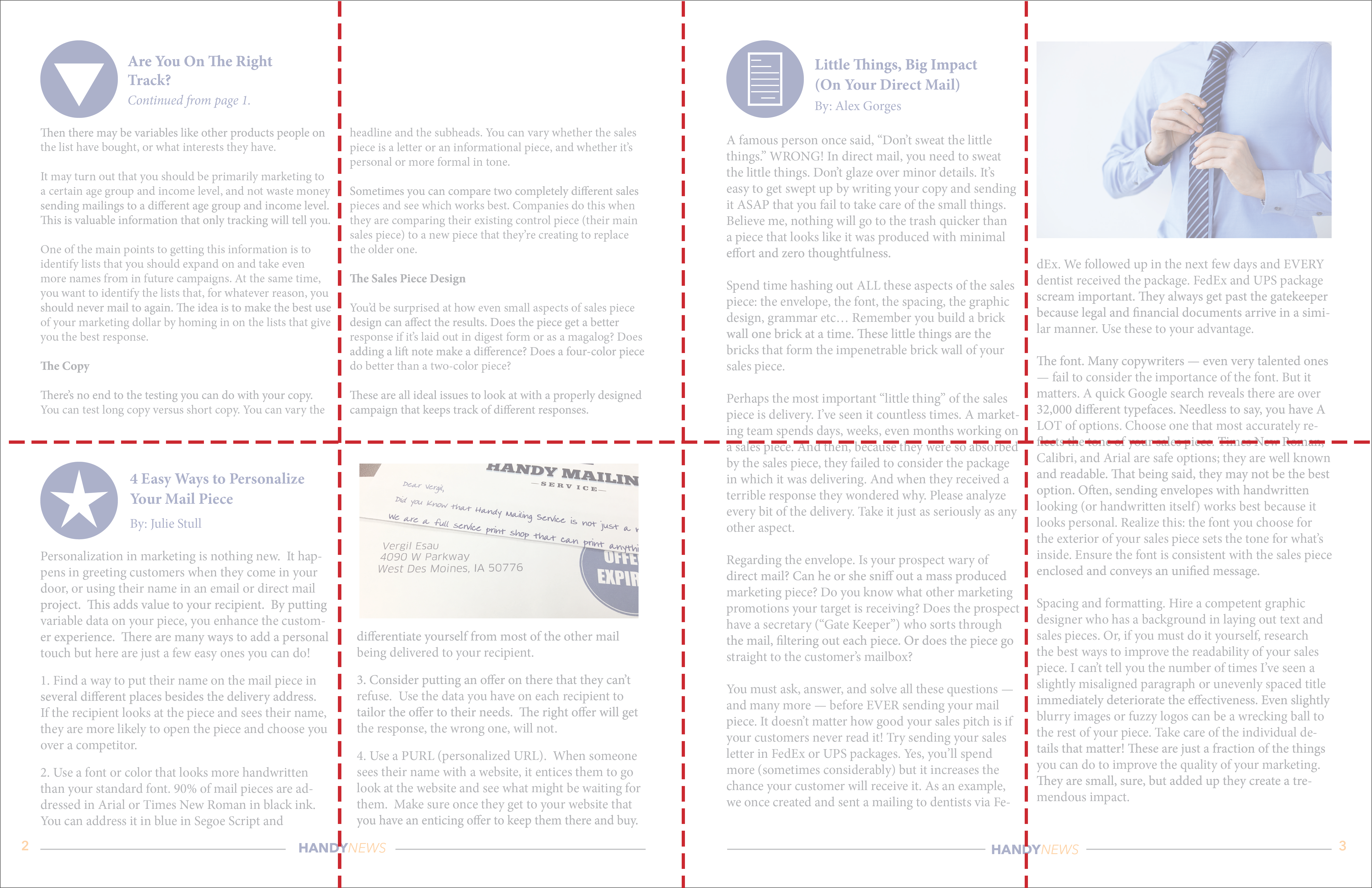 newsletter template with grid lines