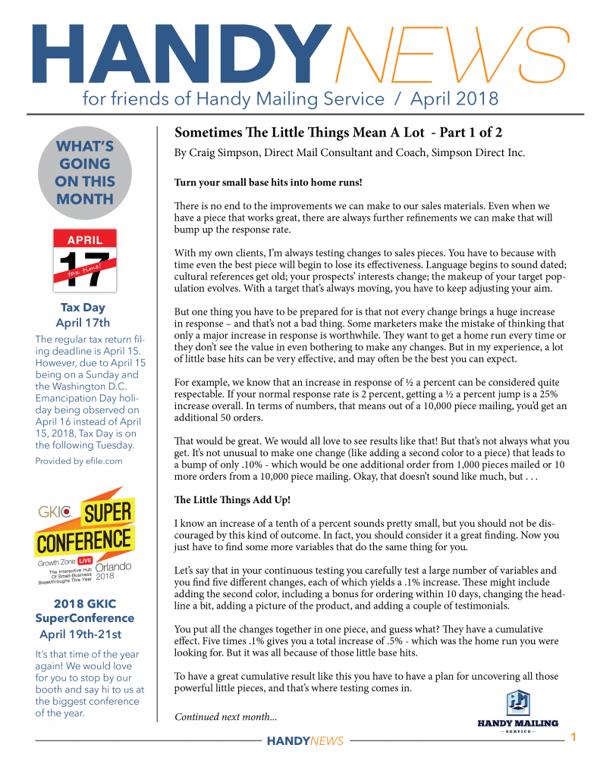 print newsletter