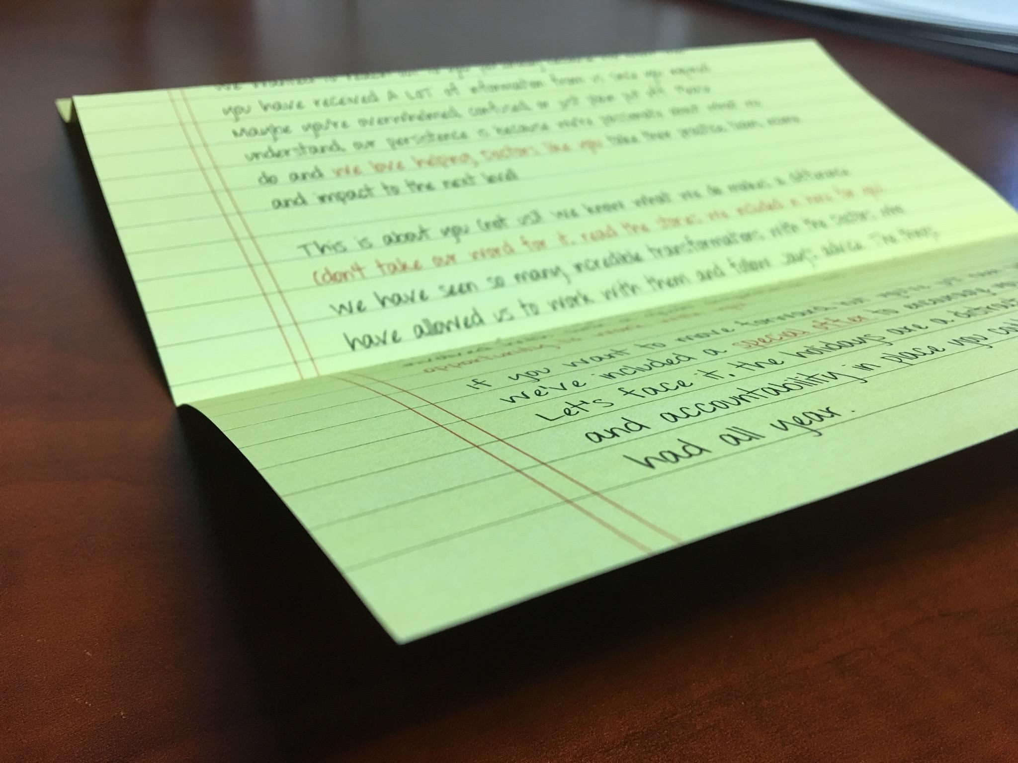 Postcard or Letter