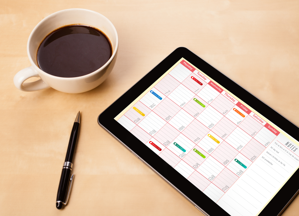 calendar for direct mail scheduling